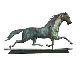 J.W. Fiske Flying Cloud Running Horse Weathervane   Chairish Storm Rider Horse Weathervane With Raven Rider Richard Hall Outdoor Cupola Roof Horse Weathervane For Barn Kits Friesian Handcrafted In Copper Craftsman Creates Cupolas And Weathervanes Visit Downeast Maine Polo Pony Of This Fabulous Jumbo Weather Vane Is Made Of Copper A Detail Design Antique Weathervanes Ideas 22761 Inspiring Classic Home Accsories Fresh Great Sale 22771