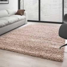 teppich hochflor langflor wohnzimmer shaggy florhöhe 3cm unifarbe beige