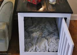 How To Build A End Table Dog Crate by Ana White Dog Kennel Coffee Table Diy Projects