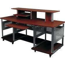 desk studio rta wood computer desk in black and cherry studio