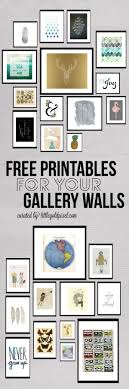 Roundup Free Printables For Gallery Walls