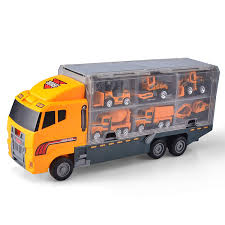 Amazon.com: Joyin Toy 11 In 1 Die-cast Construction Truck Vehicle ... Amazoncom Playmobil Cargo Truck With Container Toys Games Bed Net With Elastic Included Winterialcom Modern Stock Illustration 2017 Freightliner Business Class M2 106 Box Van For Delivery And Transportation Of Cstruction Materials As Freight On Trucks Becomes More Valuable Thieves Get Creative In Ease Hybrid Slide Free Shipping Chelong 84 All Prime Intertional Motor Morgan Cporation Bodies And 3d Opel Blitz Maultier Halftruck Truck Isolated Side View Small Delivery Cargo Vector Image On White Background Photo