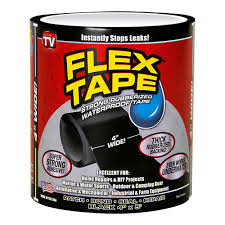 Flex Tape 4 in x 5 ft Tape in Black TFSBLKR0405 The Home Depot