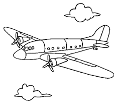 Airplane Coloring Page Book