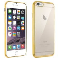 silicone transparente gel souple contour chromé or doré pour