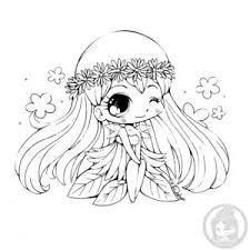 Daisy Mini Chibi Lineart By YamPuff