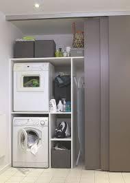 installer lave linge dans la salle de bains buanderie côté maison