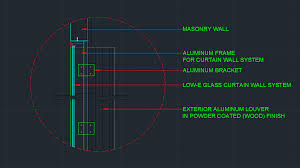 Kawneer Curtain Wall Cad Details by Wall Detail Plus Curtain Wall Detail Cad Files Dwg Files Plans