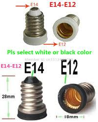 10pcs e14 to e12 base adapter converter l holder e14 e12 led