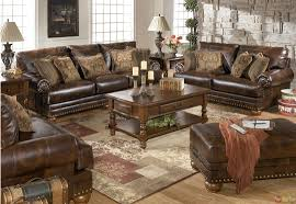Brown Living Room Ideas by Traditional Brown Bonded Leather Sofa Loveseat Living Room Set