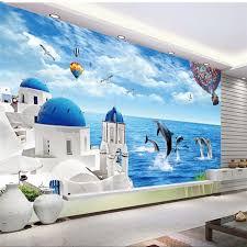 chambre dauphin beibehang personnalisé 3d papier peint dauphin maldives amour mer