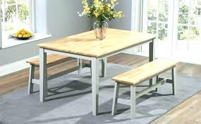 Bench Kitchen Table Set Dining With Back Room Benches Backs Small And