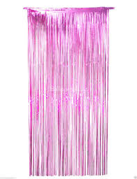 cheap 3 ft x 9 ft pink metallic foil fringe curtains party
