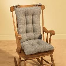 100 The Gripper Twill 2 Pc Rocking Chair Pad Set Appealing Cushions 0 Solid Navy Large Nacmdesigncom