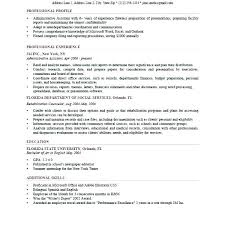 Sample Career Profile Statements Statement For Resume