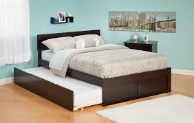 Full Size Trundle Bed With Storage — Modern Storage Twin Bed Design