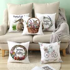 ostern kaninchen bicyle throw kissenbezug fall kissen home sofa auto nachbildung 2