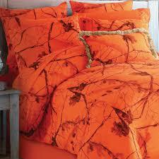 Camouflage Bedding Queen by Camo Blaze Orange Bedding Collection
