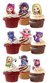 Little Charmers Edible Stand Up Wafer Paper Cupcake Toppers