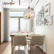 Nordic Round Living Room Lighting Creative Personality Post Modern Dining Simple Glass Restaurant Small
