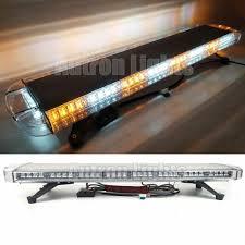 100 Light Bars For Tow Trucks 38 Inch 72W LED Amber White Flash Emergency Response Truck