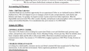 Sample Resume For Bank Clerk Jobs With No Experience Cover Letter A Teller