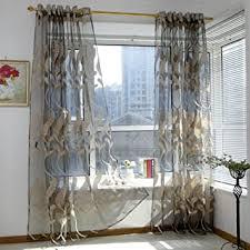 coloré tm fenster vorhänge gardinen mit motiv und ösen für türen esszimmer 200 cm x 100 cm braun