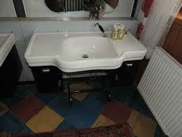 altes friseur waschbecken mit unterschrank 50er 60er jahre top