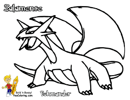 Kids Easy Pokemon Salamence Drawing At YesColoring