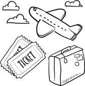 Travel Agency Air Objects Sketch