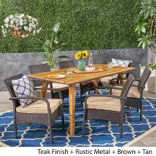 Durham Outdoor 7 Piece Acacia Wood Dining Set With Wicker Chairs By  Christopher Knight Home Wicker Ding Room Chairs Sale House Room Marq 5 Piece Set In Brick Brown With By Mfix Fniture Durham Outdoor 7 Acacia Wood Christopher Knight Home Invite Friends And Family To Your Outdoor Ding Space Round Kitchen Table With It Would Be Nice If Solid Bermuda Pc Side Model 1421set1 South Sea Rattan A Synthetic Rattan Outdoor Ding Table And Six Chairs 4 High Back 18 Months Old Lincoln Lincolnshire Gumtree Amazoncom Direct Pieces Allweather Sahara 10 Seat Teak Top Kai Setting