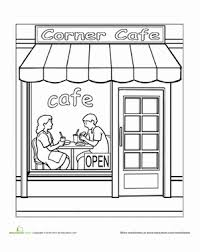 Preschool Coloring Worksheets Paint The Town Cafe