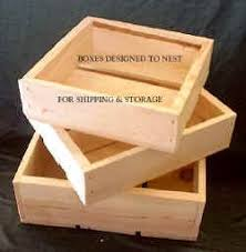 Poole Sons Inc 3 Piece Nesting Wooden Boxes Or Flats
