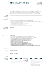 Esl Teacher - Resume Samples & Templates | VisualCV 24 Breathtaking High School Teacher Resume Esl Sample Awesome Tutor Rponsibilities Esl Writing Guide Resumevikingcom Ammcobus Resume Objective For English Teacher English Example Shows The Educators Ability To Beautiful Language Arts Examples By Real People Example Child Care Samples Velvet Jobs Template Cv Free Templates New Teaching Position Cover Letter By Billupsforcongress For Fresh Graduate In