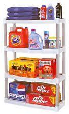 Sterilite 4 Drawer Cabinet Platinum by Sterilite 01648501 4 Shelf Shelving Unit Light Platinum Ebay