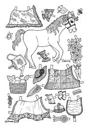Osiris Pony Paper Doll Coloring Page