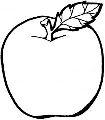 Apple Fruit Coloring Pages For Kids