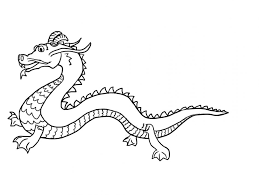 How To Draw A Chinese Dragon For Kids Komodo Coloring Pictures