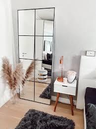 spiegel im industrial stil diy grid mirror ikeahack