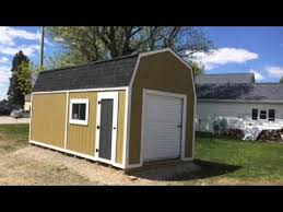 10x20 Shed Plans With Loft by 10 X 20 Barn Style Shed Youtube