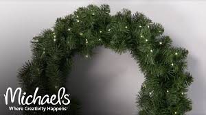 Michaels Christmas Trees Pre Lit by Add Lights To Your Wreath Make It Merry Michaels Youtube