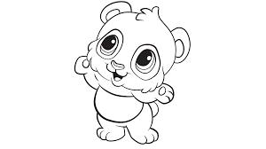 Learning Friends Panda Coloring Printable