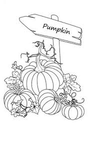 Pumpkins Sign Of Garden Coloring Page PageFull Size Image