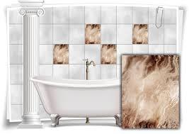 fliesen aufkleber folie marmor öl ölfarben abstrakt braun creme bad wc deko küche