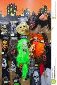 Slipknot Halloween Masks For Sale by Scary Halloween Masks On Sale In Local Supermarket Editorial Stock