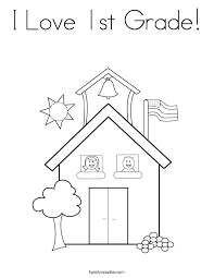 I Love 1st Grade Coloring Page