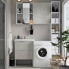 enhet tvällen badezimmer set 16 tlg betonmuster weiß