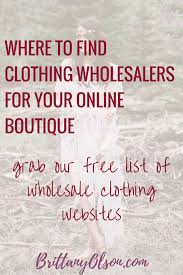 Find Wholesale Boutique Clothing 2018 - Free List | Starting A ...