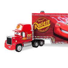 Disney Mack Friction Motor Hauler Truck Plus Six Pullback Cars Set ...