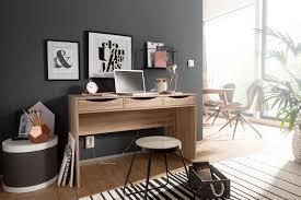 finebuy schreibtisch 120 cm design büro tisch in sonoma eiche moderner computer tisch mit 3 schubladen und stauraum platzsparender